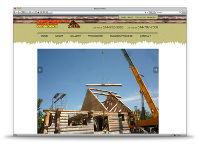 Boisronds Website Design