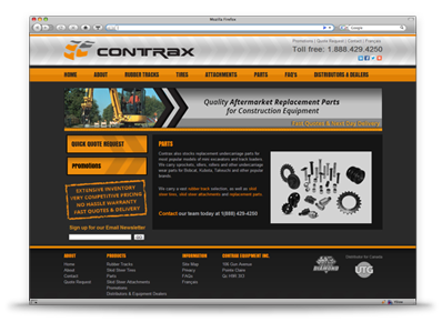 Contrax Website Design